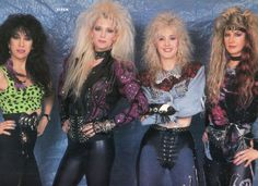 Vixen - the original classic line-up Hair Metal Bands, 80s Hair Bands, Glam Metal, Rocker Girl, Rocker Style, 80s Rock Fashion, Heavy Metal Girl, Heavy Metal Fashion, 80s Party Outfits