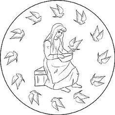 Das Mrchen Vom Rotkppchen Als Mandala Und Ausmalbild Fr