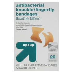 upup Knuckles/Fingertips Flexible Fabric Bandages - 20 Count, awesome for accidental  ripped fingernails.