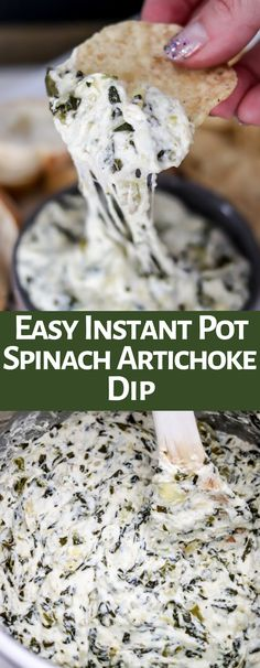 Making Spinach Artichoke Dip in the Instant Pot couldn't be easier or more delicious! It's ultra creamy, cheesy, and delicious! This will be an appetizer staple! Dip Recipes, Snack Recipes, Cooking Recipes, Yummy Recipes, Dinner Recipes, Snacks, Keto Recipes, Breakfast Recipes, Vegetarian Recipes