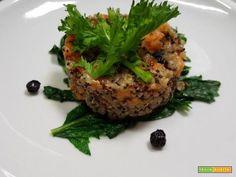 Insalata di quinoa patate cime di rapa mirtilli  #ricette #food #recipes