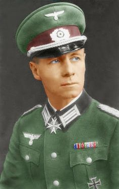 "Erwin Juhance Eugen Rommel""Desert Fox""(1891_1944)_, was one of  German's most popular generals Field Marshal during WWII._J.GR993"