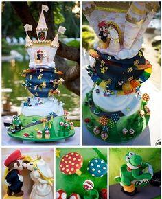 Super Mario Bros Wedding Cake