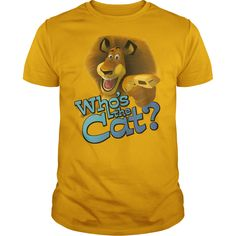 Madagascar  Whos The Cat T Shirt for men #Madagascar #cat