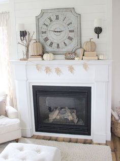 If you lean towards a more neutral color palette, this is the Fall mantle for you!