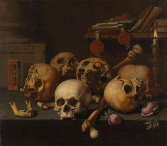 An ode to the new Rijksmuseum: a selection of dark and haunting pieces from their archive | Vanitas stilleven, Aelbert Jansz. van der Schoor, 1640 – 1672 #art #classic #drawing #history #rijksmuseum #vanitas #stillife #skulls