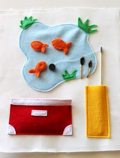 quiet books- with magnets on the fishes!