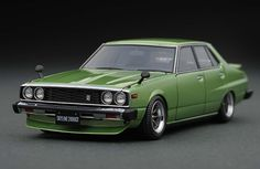 IG0321 1/43 Nissan Skyline 2000 GT-EL (C210) Green | LINE UP | ignition model - すべてはミニチュアカーコレクターのために。