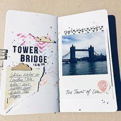 Team Mitglied @janinemattis zeigt dir heute ihr wunderbares Travelers Notebook in dem sie ihre Urlaubserinnerungen festgehalten hat jetzt aufm #papierprojekt Blog.