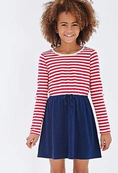 Striped Combo Dress (Kids) | FOREVER21 girls $14!