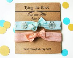 Items similar to Wedding Favor, FOE Hair Ties, Bridal Shower Favor, Bridesmaid Gift, Personalized Favor, Small Wedding Favor, Bridal Favor on Etsy
