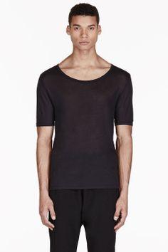 ACNE STUDIOS Black Semi-Sheer T-Shirt