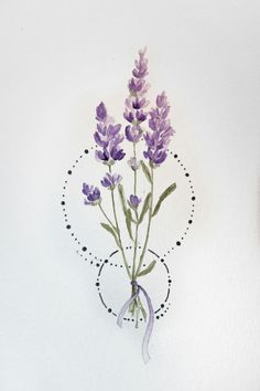 Fantastic Photos Purple Flowers lavender Strategies Purple flowers are elegant flowers. These are deluxe and expensive, tasteful and boheme. The next content can Mini Tattoos, Flower Tattoos, Body Art Tattoos, Small Tattoos, Cool Tattoos, Tatoos, Diy Tattoo, Lavander Tattoo, Lavender Flowers