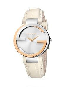 Gucci Interlocking 18K Pink Gold   Stainless Steel Watch 4ecc5bdccb623
