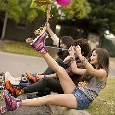 Patinar con amigos #SoyLuna