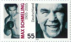 Max Schmeling auf Briefmarke 2005