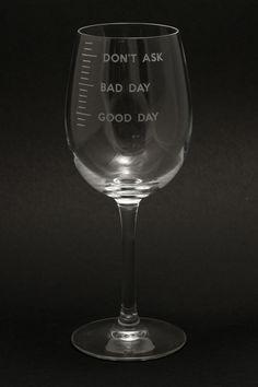 Weinglas good day