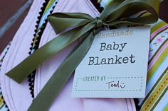 Great and FREE tags for all your home made baby gifts!