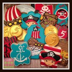 Ahoy Matey!  Pirate Cookies for 5 Yr Old Birthday