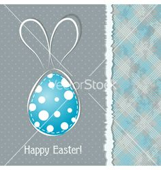 Happy Easter Vintage Style Easter Greeting Card Retro Easter