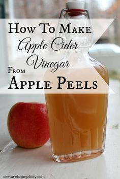 Don't throw away those apple peels!! You can make apple cider vinegar from them!  How To Make Apple Cider Vinegar From Apple Peels | areturntosimplicity.com