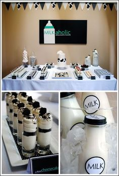 MILKaholic baby shower theme.--- Steven!! LoL #timelesstreasure