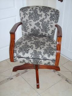 Hello re-upholstered office chair!