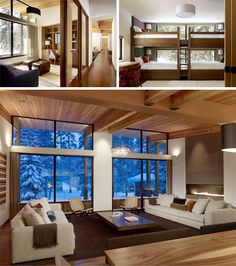 West Coast Contemporary- clean lines, lots of wooden structure, and lots of windows/natural lights!