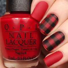 Buffalo plaid nails today! ❤️❤️❤️ These are very fall appropriate Tutorial will be up soon! Tag someone who ❤️s this kind of plaid @opi_products Love Is In My Cards, Guys And Galaxies, and Matte Top Coat @twinkled_t Striping Vinyls and #00 nail art brush | 10% off site wide with my code ❤️CAMBRIA❤️ Black acrylic paint @sechenails Seche Vite All polishes are from @hbbeautybar | 15% off with code nailsbycambria