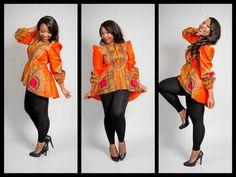 dashiki blouse with peplum. by missbeidafashion on Etsy, $50.00