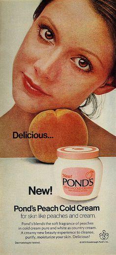 1973 Ponds cold cream vintage advertisement