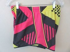 Nike Dri-Fit colorful pattern lined running athletic shorts Womens Medium