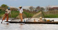 Gail Palethorpe - Fishermen of Inlet Lake Myanmar 6