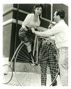 Gina Lollobrigida Beautiful But Dangerous La donna più bella del mondo Twentieth Century Fox G.E.S.I. Cinematografica 1955. by Rides a Bike