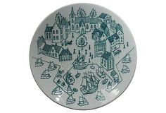 Danish Plate w/ Village Scene on OneKingsLane.com/shop/retroda