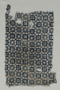 Fragment, 1100s - 1300s India, 12th-14th century plain cloth, resist dyed; cotton, Overall - h:29.25 w:17.20 cm (h:11 1/2 w:6 3/4 inches).