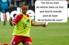 Pitoyable. Les fautes de français de Franck Ribery, l'un des meilleurs footballeurs au monde. Avec ce qu'il gagne, ll pourrait s'offrir un coach grammatical. Clic 2X.