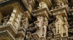 Khajuraho, Tantra, Sculptures on Temples, Yali, mythical creatures & beings, Apsaras, Nymphs, India