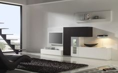 #modern #livingroom #furniture black and white Visit http://www.suomenlvis.fi/