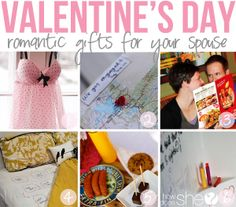 Try some of these romantic and meaningful ideas for your spouse for Valentine's Day! Includes a book of love, dinner date ideas, romantic stay-in ideas, shower love notes, game of love idea and more! #valentinesday #giftsforhim #gameoflove #howdoesshe