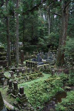 Oku-No-In, Buddhist cemetery and temple.