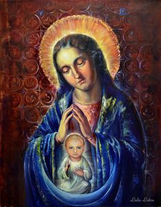 """Help to Birth (Prayer for Ukraine)"" by Natalia Lvova, oil on canvas, 70×90cm"