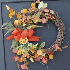 Fall Wreaths Autumn Wreaths October Wreaths by theembellishedhome