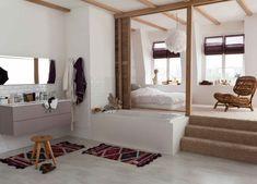 suite parentale/salle de bains ouverte sur la chambre