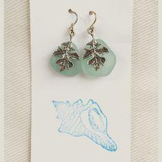 Seaglass earrings Brand new, never worn. Handmade with genuine seaglass. Beautiful, natural earrings. Handmade Jewelry Earrings