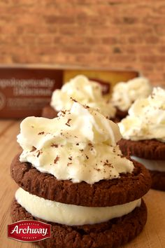 Vanilla ice cream sandwiched between two Dutch Cocoa cookies is the best of both worlds.