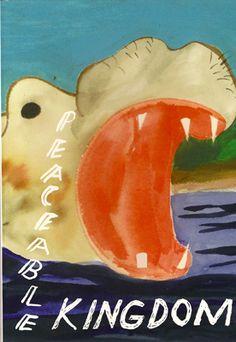 Peaceable Kingdom by Chris Johanson / Jo Jackson Jo Jackson, Social Themes, Street Artists, New Artists, Fashion Plates, Album Covers, Book Covers, American Artists, Book Design