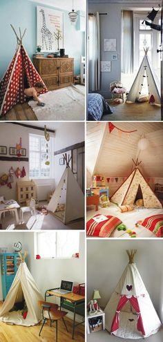 teepee - no need to use every blanket in the house! These are adorable