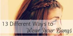 13 Ways on how to wear your bangsMa Nouvelle Mode