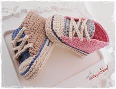 Zapatillas de ganchillo bebé Botines del bebé por Vintagesouletsyshop
